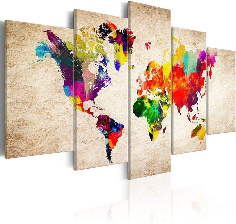 quadro con la mappa del mondo - regalo per chi ama viaggiare