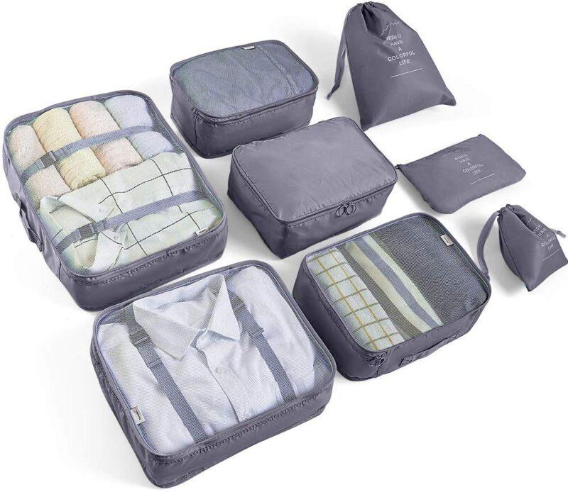 sacchetti organizer per la valigia - regalo per viaggiatori