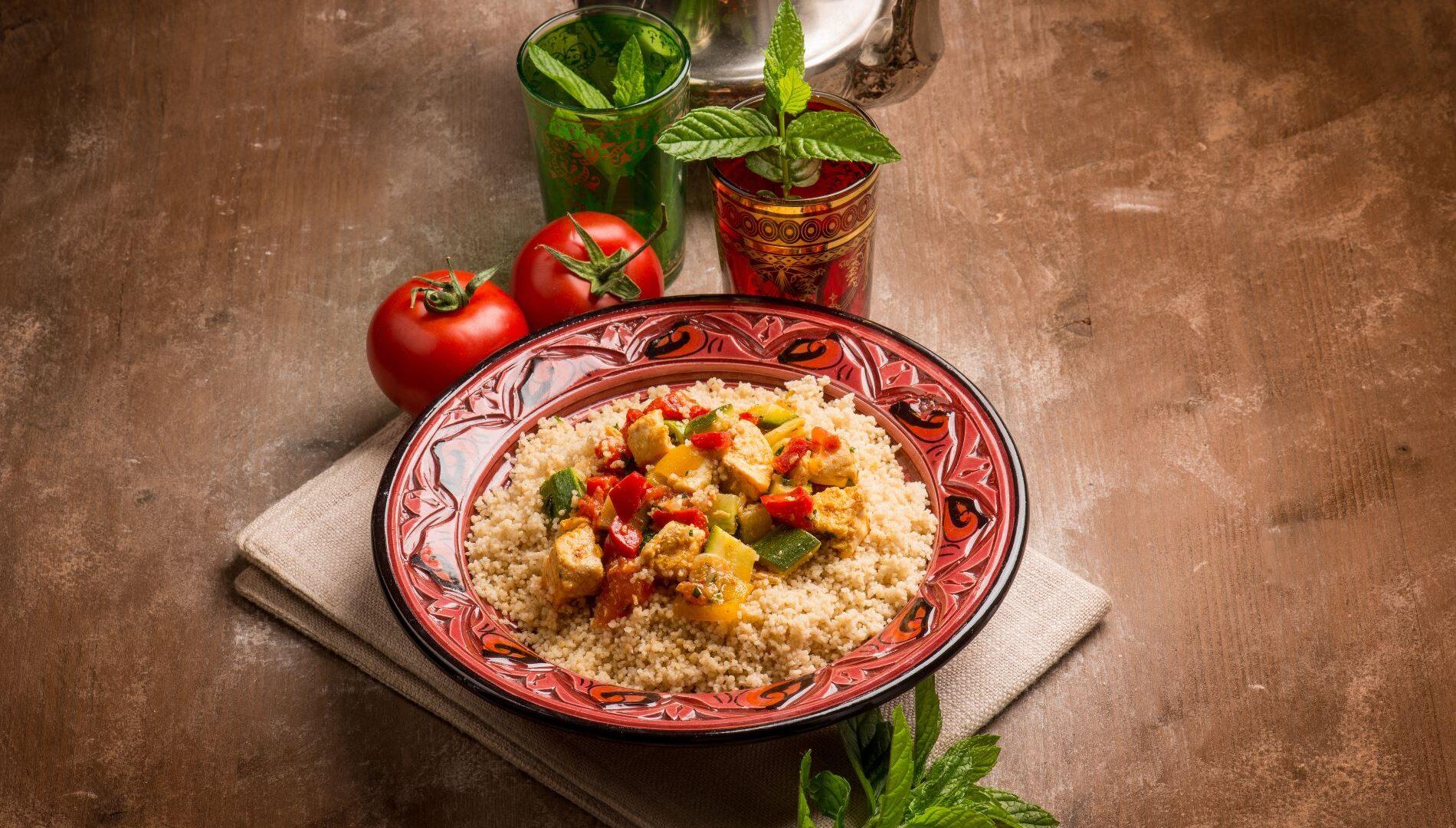 Ricetta del cous cous di pollo e verdure