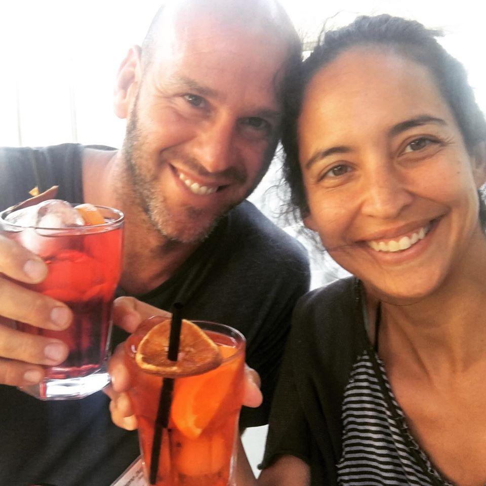 Andre e Hecmara e il loro That's Amore bar