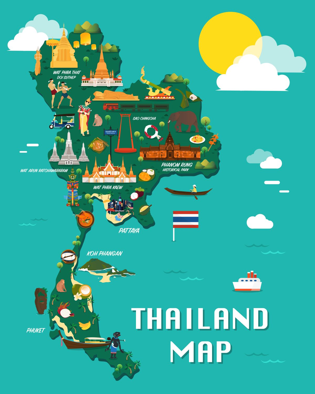 MAPPA THAILANDIA SPIAGGE