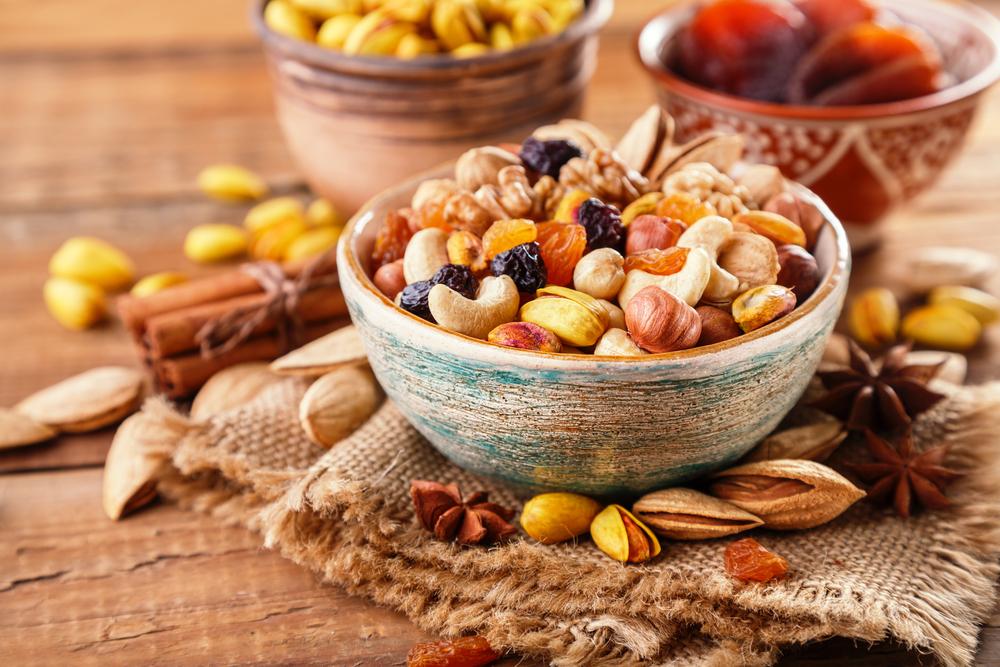 Rimedi per combattere lo stress con l'alimentazione: frutti secchi