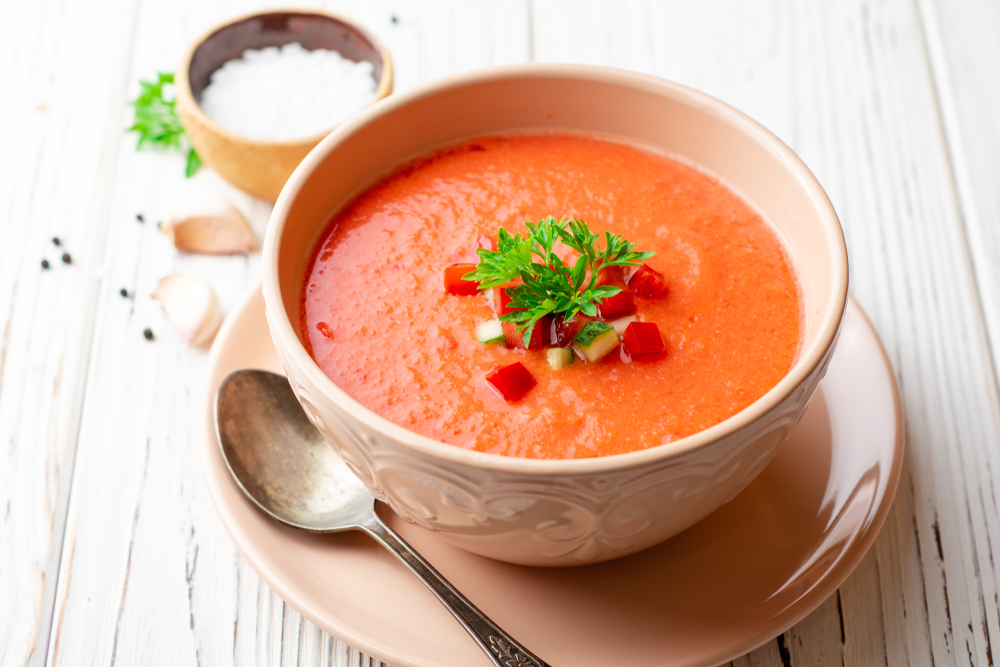 Ricetta del gazpacho andaluz di pomodori