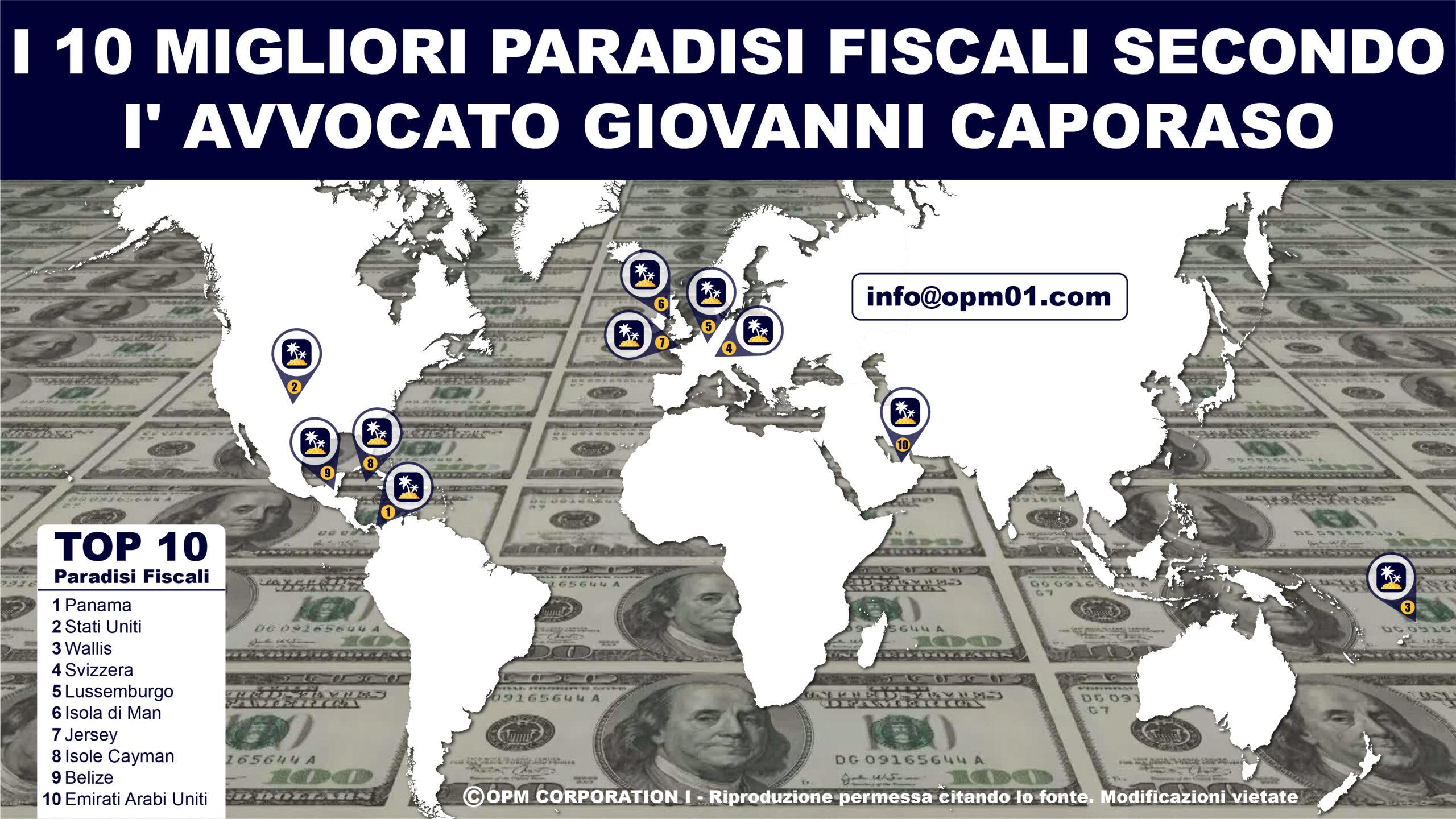 10 migliori paradisi fiscali