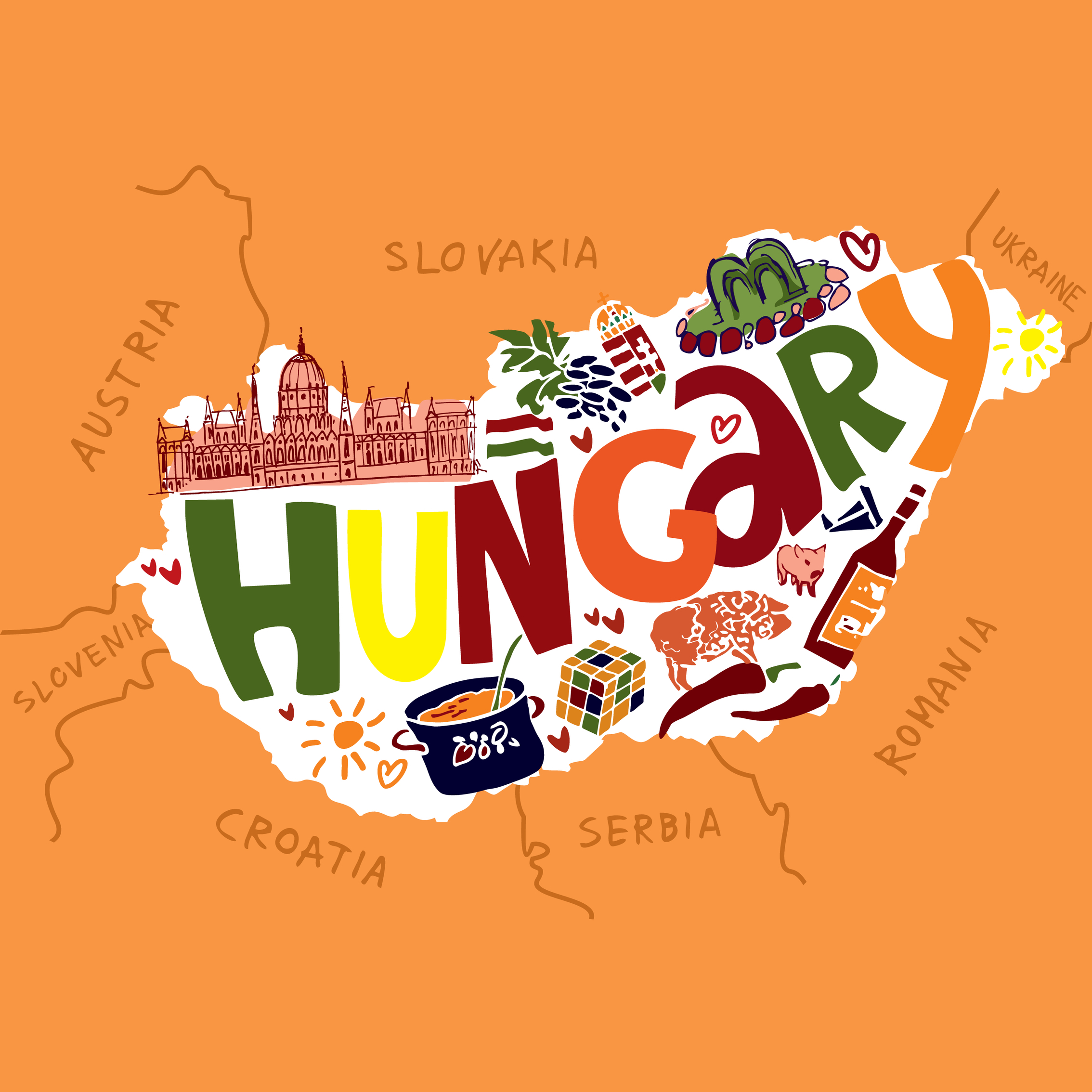 mappa ungheria investire ungheria