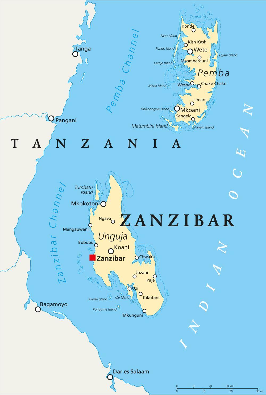 mappa zanzibar